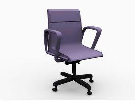 Purple Desk Chair 3d preview