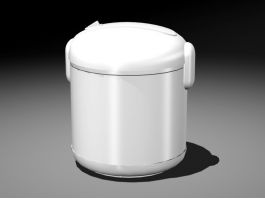 White Rice Cooker 3d preview