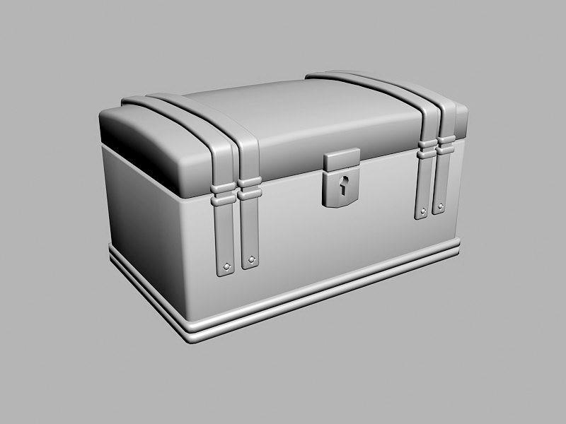 Treasure Chest Box 3d rendering