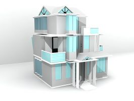 Three Floor House Design 3d preview