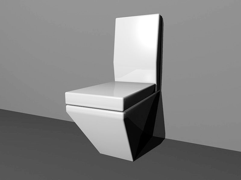 One Piece Toilet 3d rendering