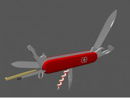 Animated Swiss Army Knife 3d preview