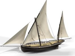 Old Sailing Ship 3d preview
