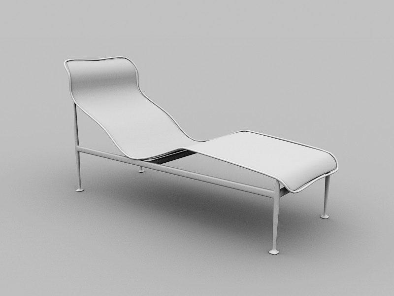 Outdoor Sun Lounger 3d rendering