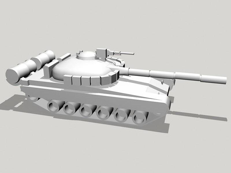 Russian T-80 Tank 3d rendering