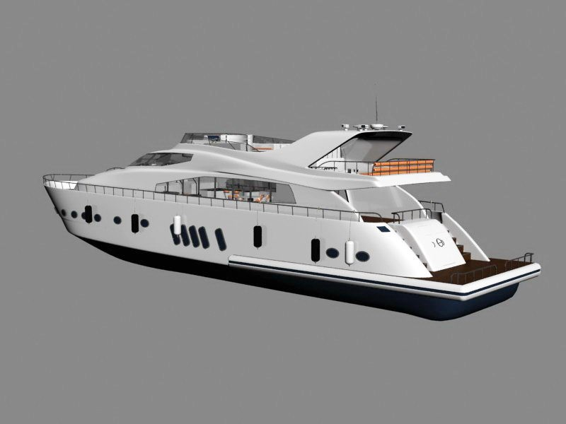 Luxury Private Yacht 3d rendering