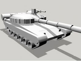 Russian T-80 Tank 3d model preview