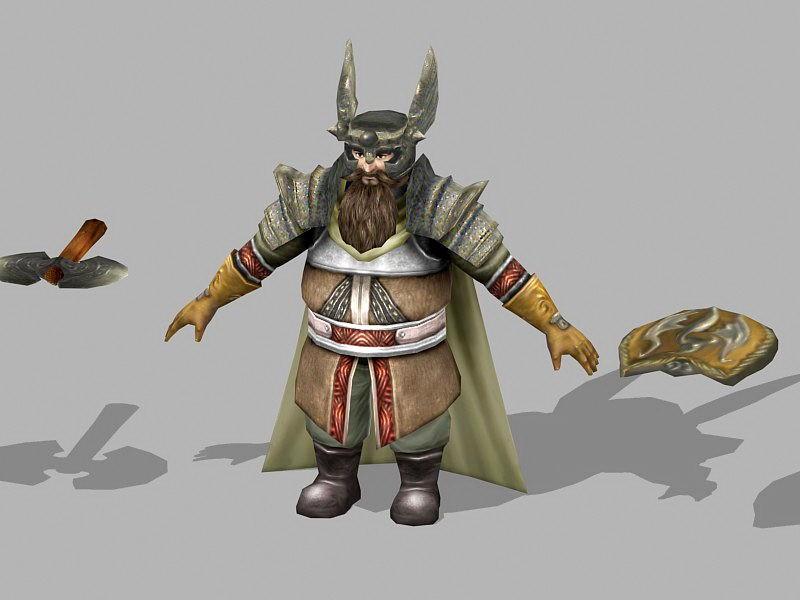 Dwarf Runelord Concept Art 3d rendering