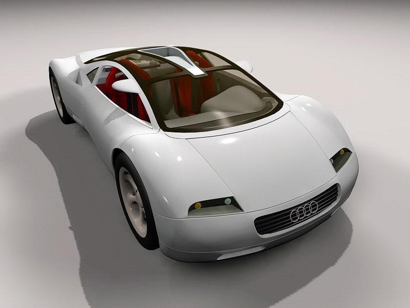 Audi Avus Quattro Concept 3d rendering