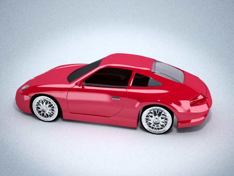 Porsche 911 Carrera 3d rendering