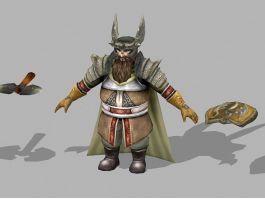 Dwarf Runelord Concept Art 3d preview