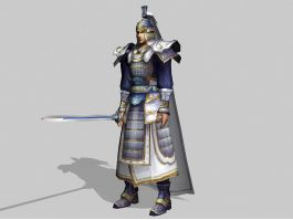 Ancient Chinese Warlord 3d preview