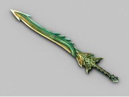 Green Dragon Sword 3d preview