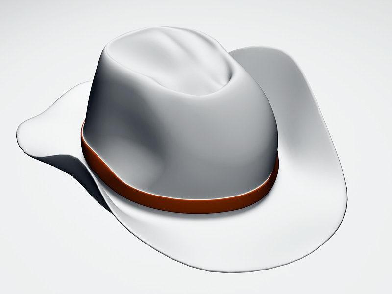 Western Cowboy Hat 3d rendering