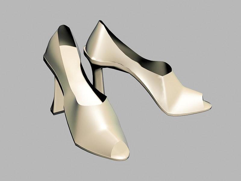 Platform Party Sandals Shoe 3d rendering