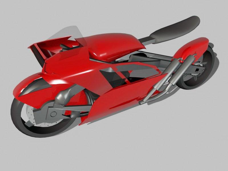 Minimalist Motorcycle 3d rendering