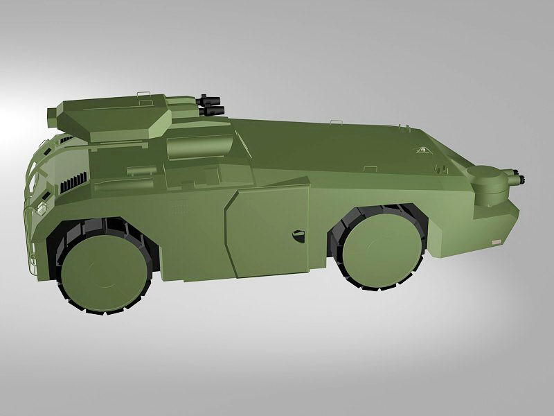 APC Armored Fighting Vehicle 3d rendering