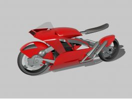 Minimalist Motorcycle 3d preview