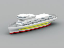 Yacht Ship 3d preview