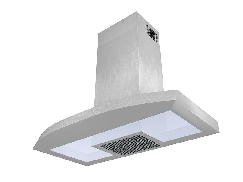 Kitchen Stove Hood 3d rendering