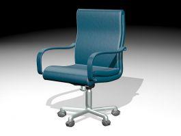 Blue Desk Chair 3d model preview