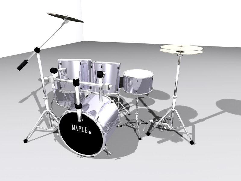 Full Drum Set 3d rendering