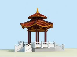 Ancient Chinese Pavilion 3d preview