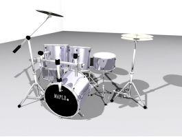 Full Drum Set 3d preview