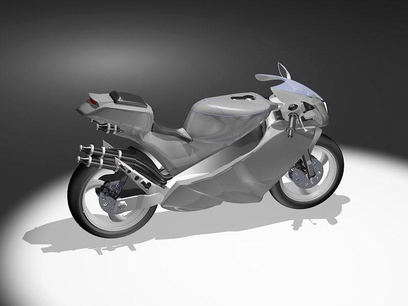 Modern Motorcycle 3d rendering