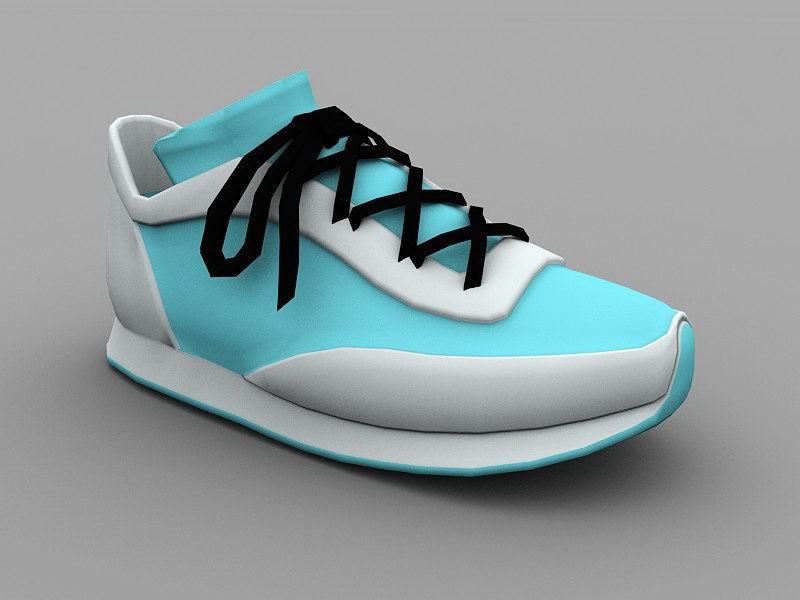 Blue Sneaker 3d rendering