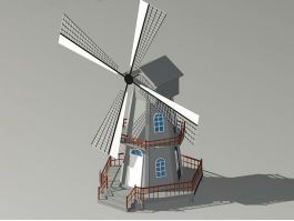 Historic Windmill 3d preview