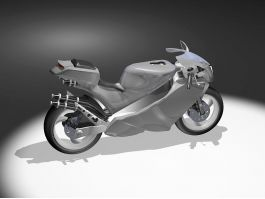 Modern Motorcycle 3d preview
