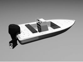 Small Motorboat 3d preview