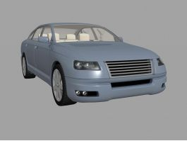 Blue Classic Car 3d preview
