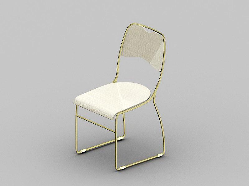 Elegant Dining Chair 3d rendering