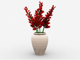 Flowers in Vase 3d preview