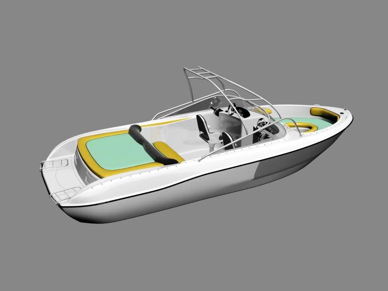 Luxury Speed Boat 3d rendering