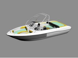 Luxury Speed Boat 3d preview