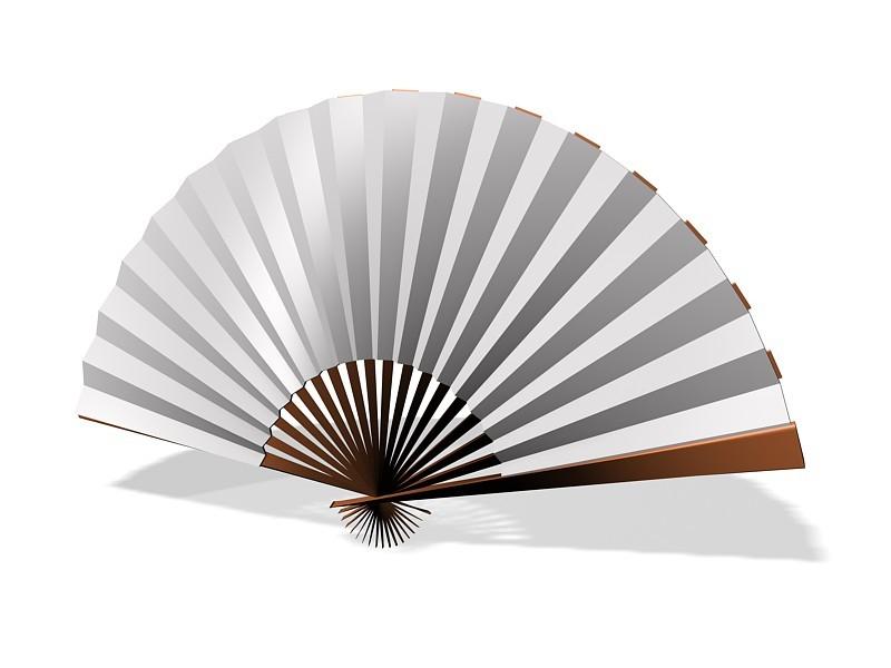 Japanese Foldable Fan 3d rendering