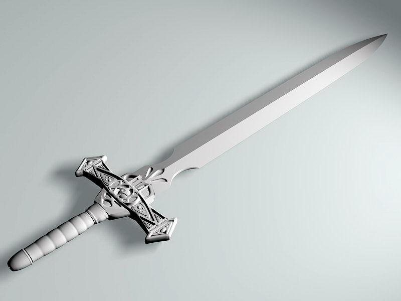 Dark Knight Sword 3d rendering
