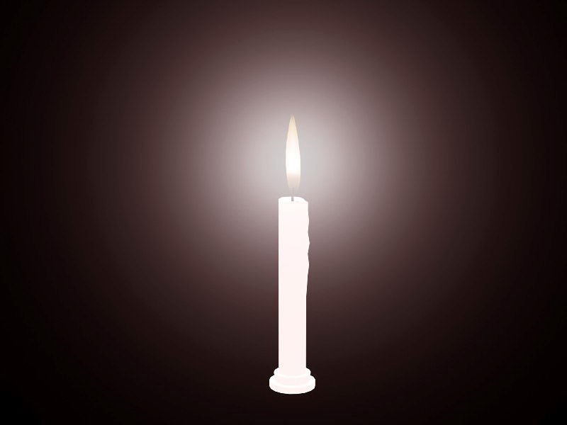 Beautiful Burning Candle 3d rendering