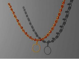 Yellow Gold Necklace 3d preview