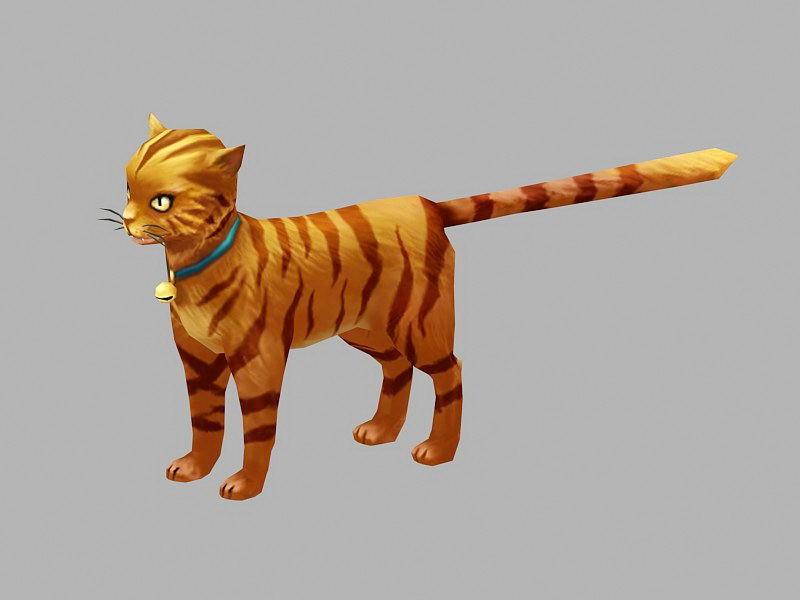 Beautiful Orange Cat 3d rendering