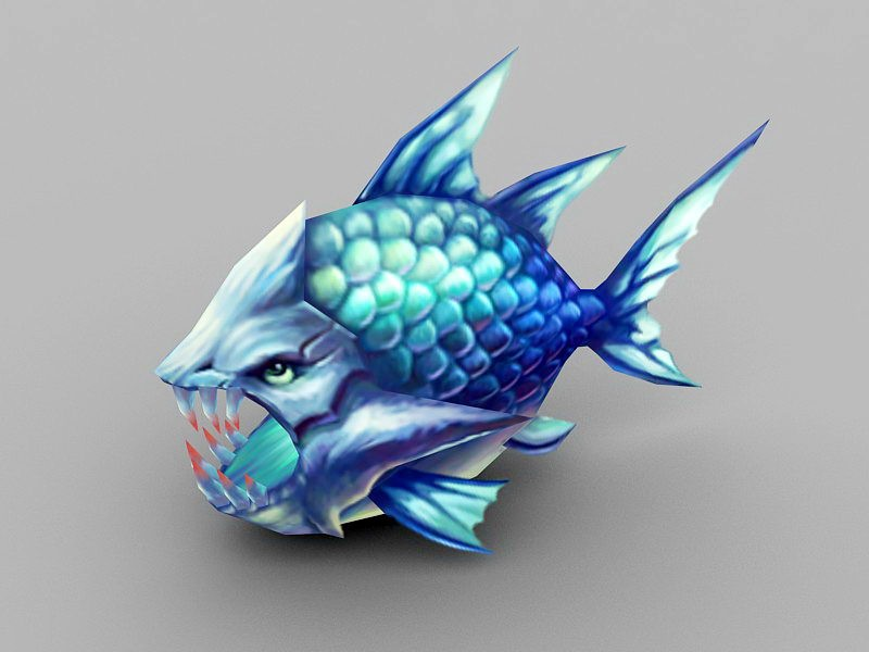 Deep Sea Monster Fish 3d rendering