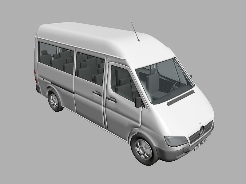 Mercedes-Benz Sprinter 3d rendering