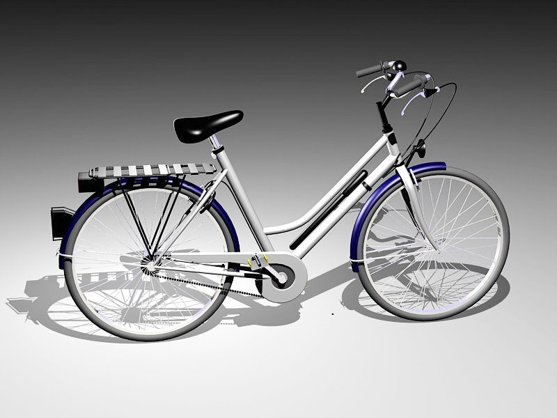 Ladies City Bike 3d rendering