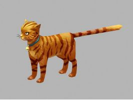 Beautiful Orange Cat 3d preview