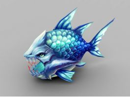 Deep Sea Monster Fish 3d preview