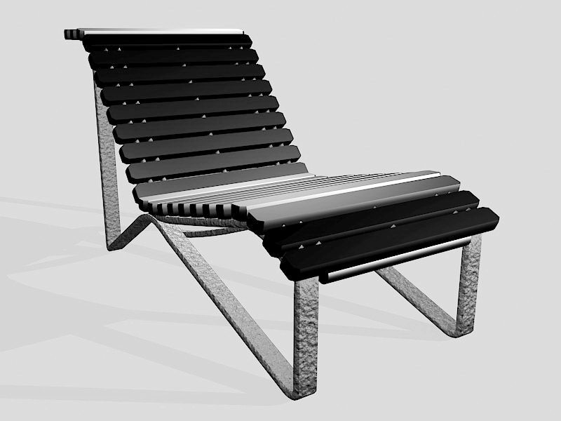 Outdoor Sun Lounger 3d rendering