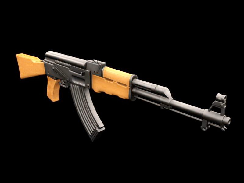 Soviet AK-47 3d rendering